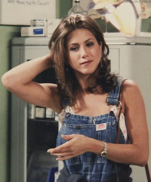 Jennifer Aniston from Friends Wearing Dungarees