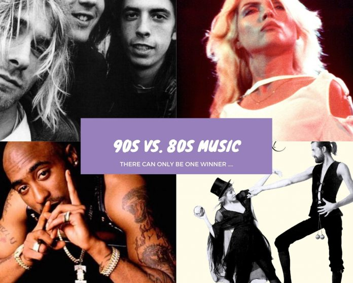 Battle of the Eras: 90s vs 80s music including 2 pac, nirvana, blondie and fleetwood mac