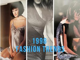 1998 fashion trends of 3 different styles of women's outfits