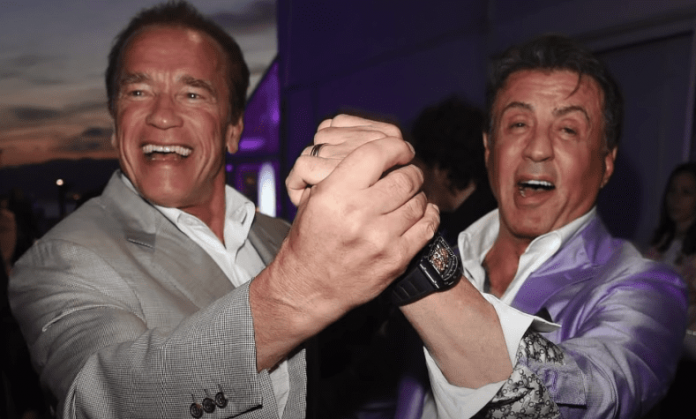 Sylvester Stallone and Arnold Schwarzenegger watches gift