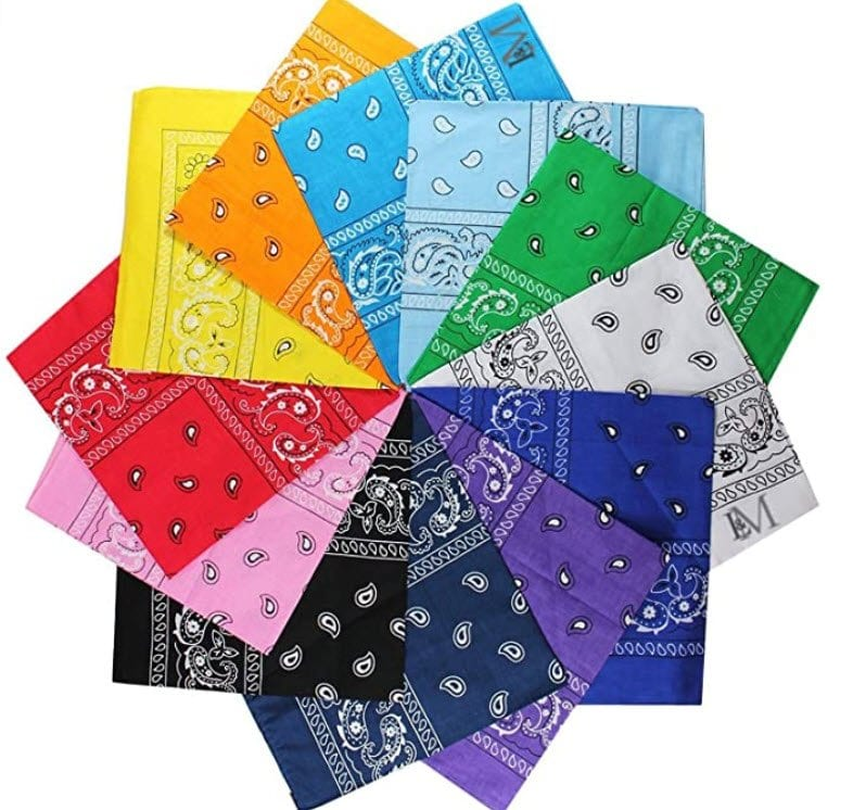 Bandanas in different colours