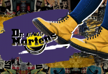 Doc Martens Styles Leather Yellow Boots