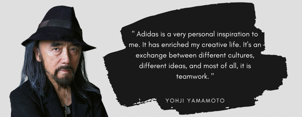 Yohji Yamamoto Quote about Adidas and its exchange of cultures