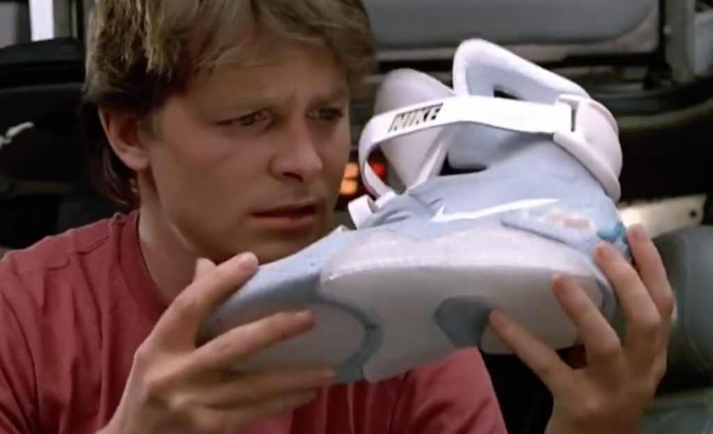 Back to the Future Movie Nike Sneakers