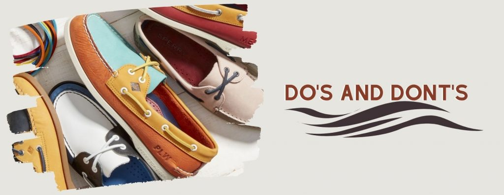 the dos and donts of wearing boat shoes