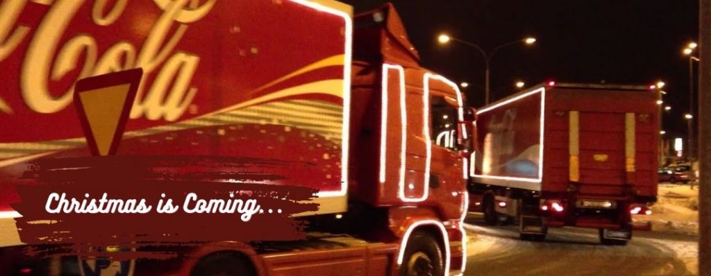 Cocoa Cola trucks Coming to Town at Christmas