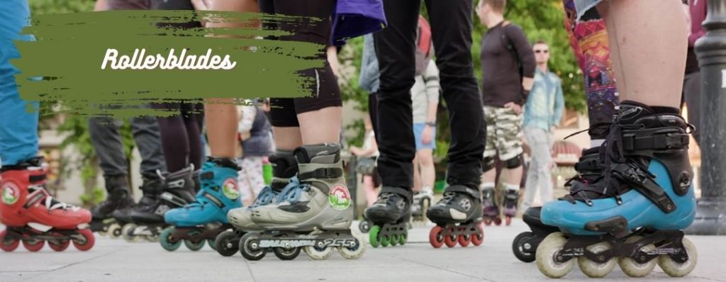 Young People with Rollerblades in the 90s