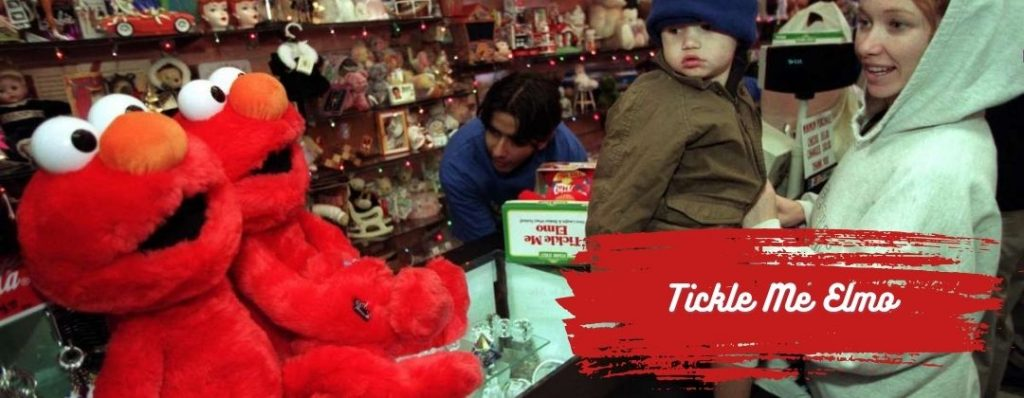 Tickle me Elmo in 90s Store
